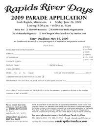 Parade App1 2009