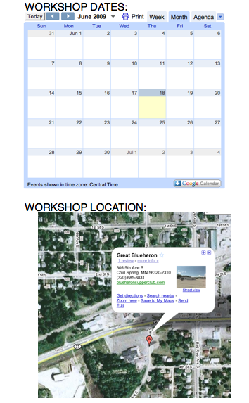 Map & Calendar