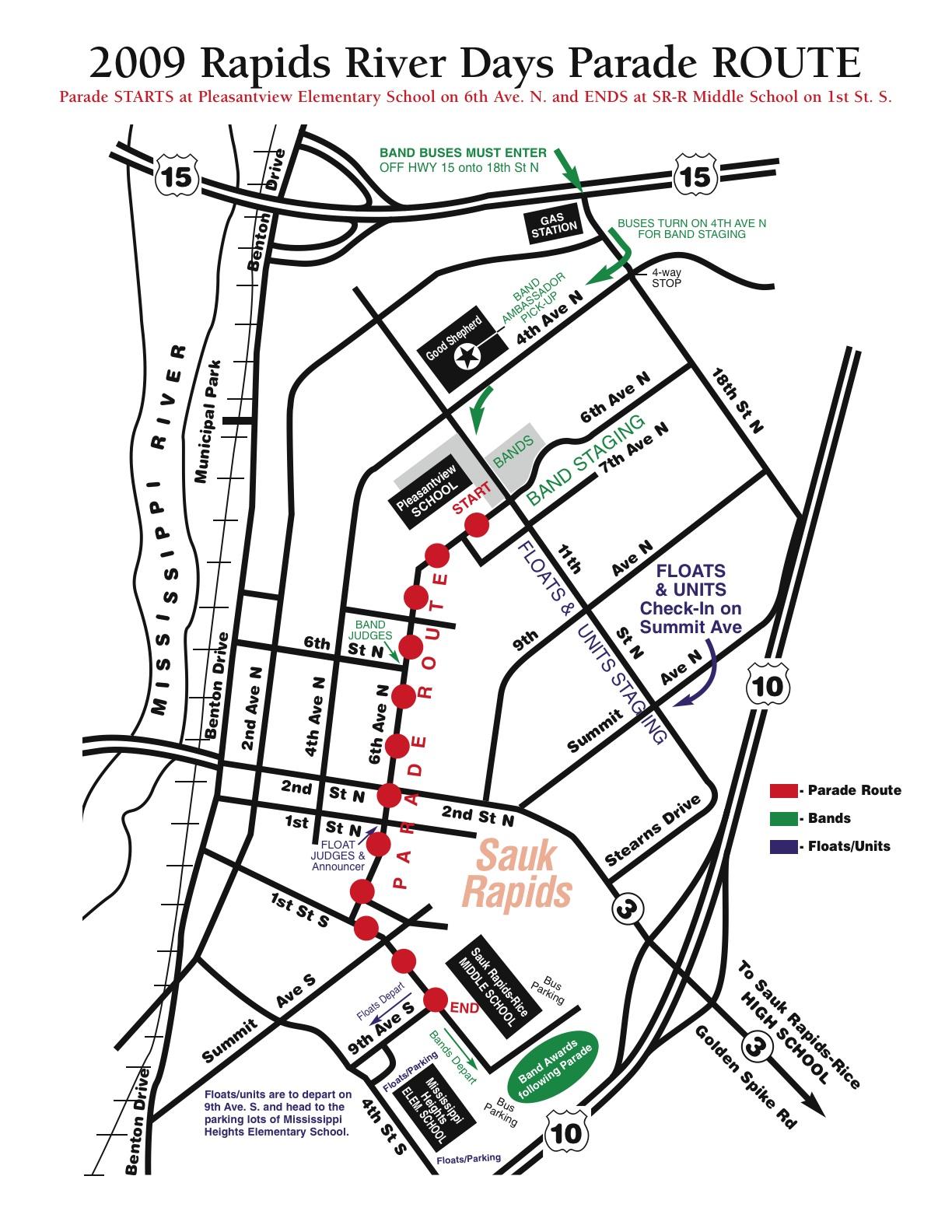 Parade App Map 2009