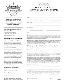 2009 Pageant App Forms1