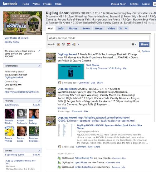 Facebook 2000 friends