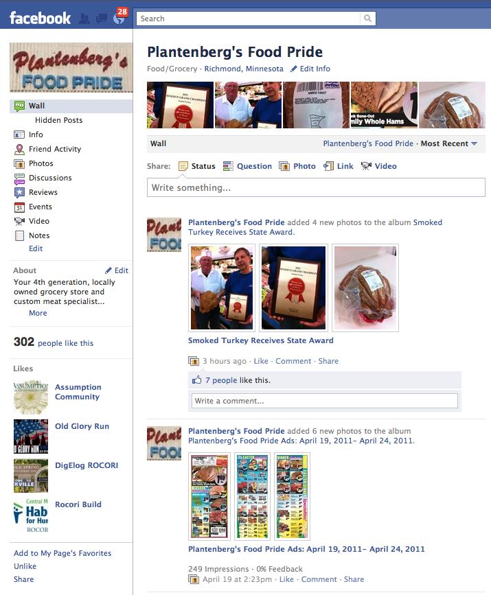 Plantenberg's Facebook