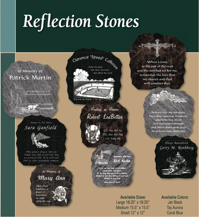 Reflection Stone Single Graphic Choices