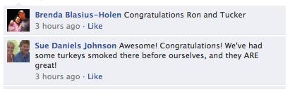 Facebook response 1