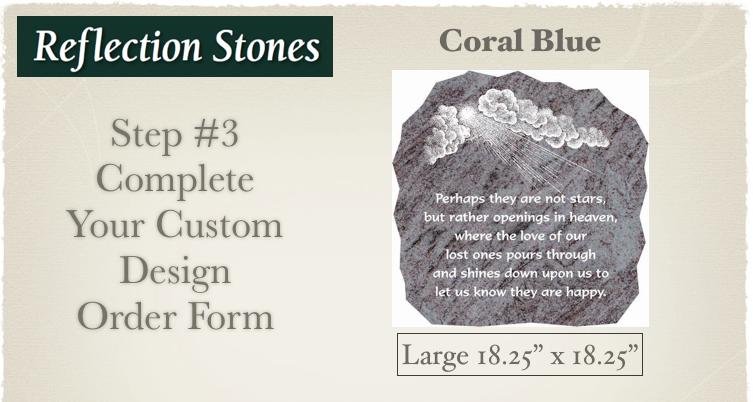 Large Coral Blue Order Form