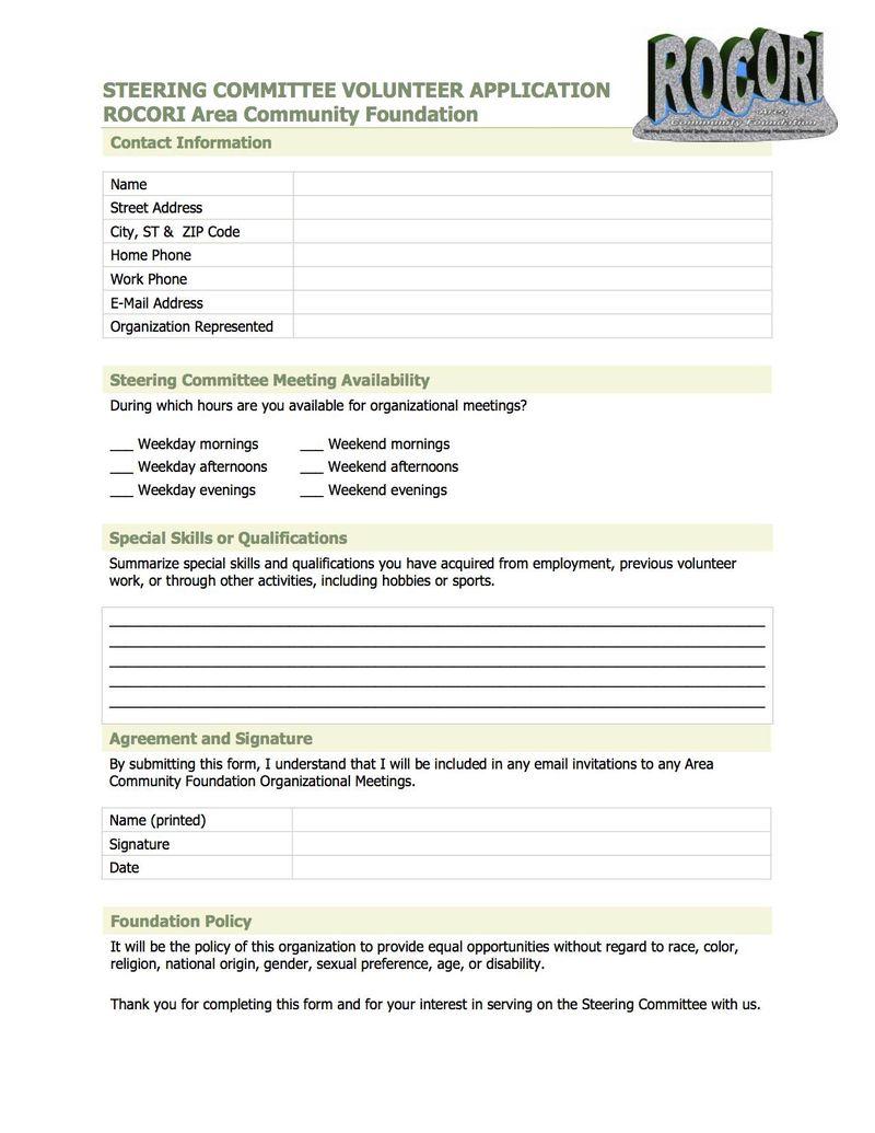 RACF Steering Committee Volunteer Application _Rev28Nov11_