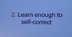 2 Learn self correct
