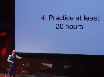 Practice 20 hours