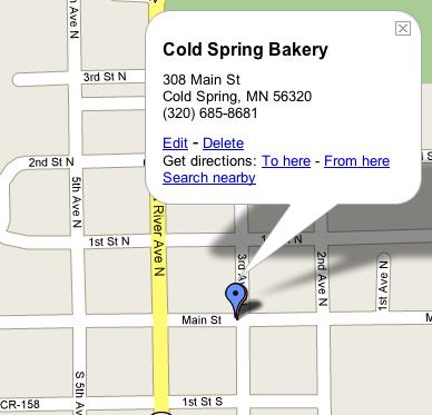 Coldspringbakerymap