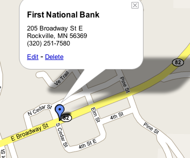 Firstnationalbankrockvillemap